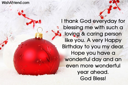 I Thank God Everyday For Blessing Christian Birthday Greetings