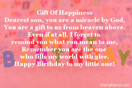 Peachy Son Birthday Poems Funny Birthday Cards Online Fluifree Goldxyz