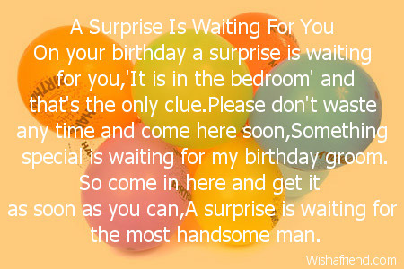 A Surprise Is Waiting For You Husband Birthday Poem