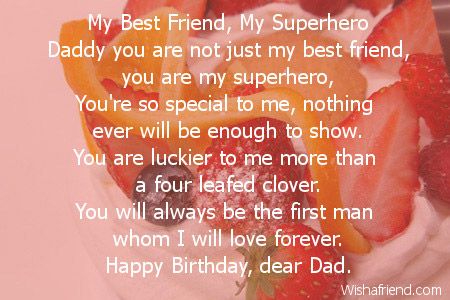 my best friend my superhero dad birthday poem