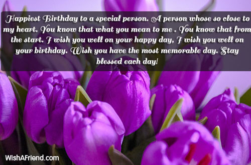 Happiest Birthday To A Special Person Cute Birthday Quote