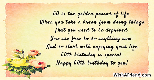 60 Is The Golden Period Of 60th Birthday Quote Cool Quotes 60th Birthday