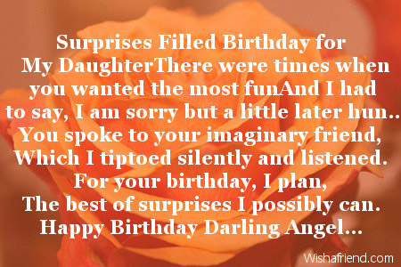 2019 Daughter Birthday Poems