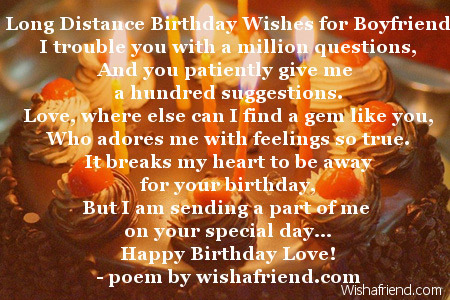 Long Distance Birthday Wishes For Boyfriend