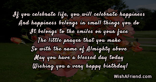 If You Celebrate Life You Will Christian Birthday Quote