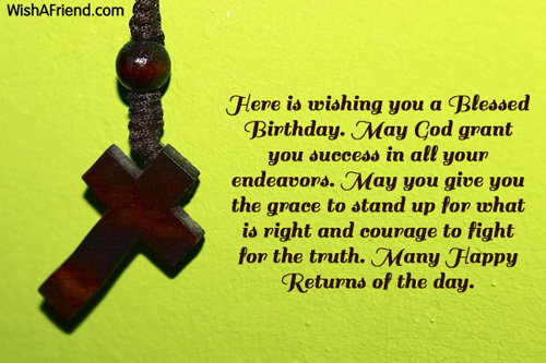 Here is wishing you a blessed christian birthday greetings 2055 christian birthday greetings m4hsunfo