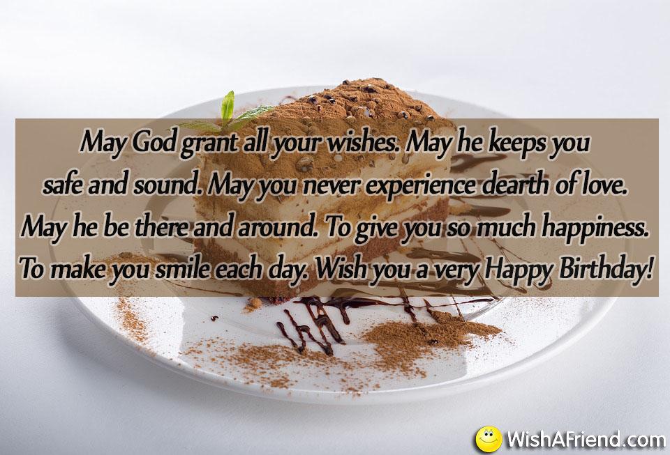 May God Grant All Your Wishes Religious Birthday Quote