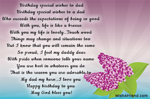 Birthday Special Wishes To Dad