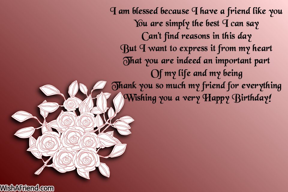 I Am Blessed Because I Have Best Friend Birthday Wishes