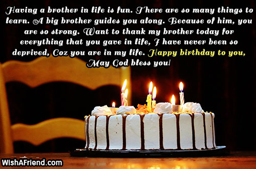 21133 Brother Birthday Wishes