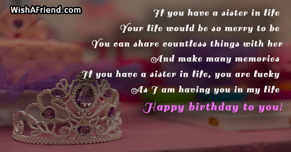 If You Have A Sister In Sister Birthday Quote