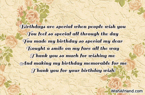 21294 Thank You For The Birthday Wishes