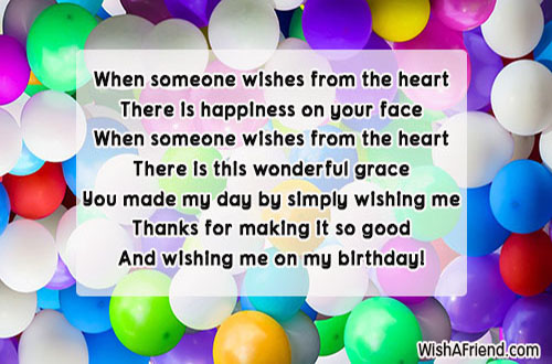 21671 Thank You For The Birthday Wishes