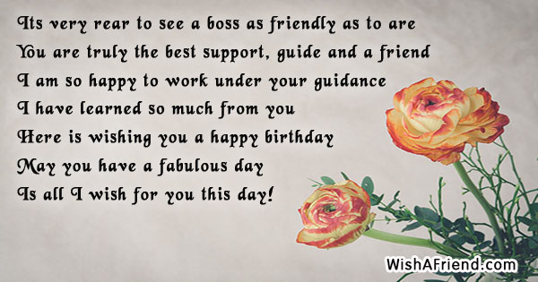 Its very rear to see a birthday wishes for boss 21760 boss birthday wishes m4hsunfo