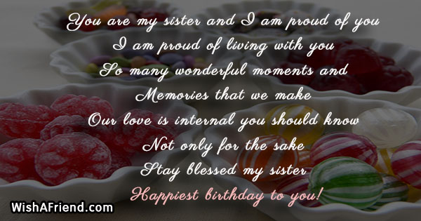 You Are My Sister And I Sister Birthday Quote
