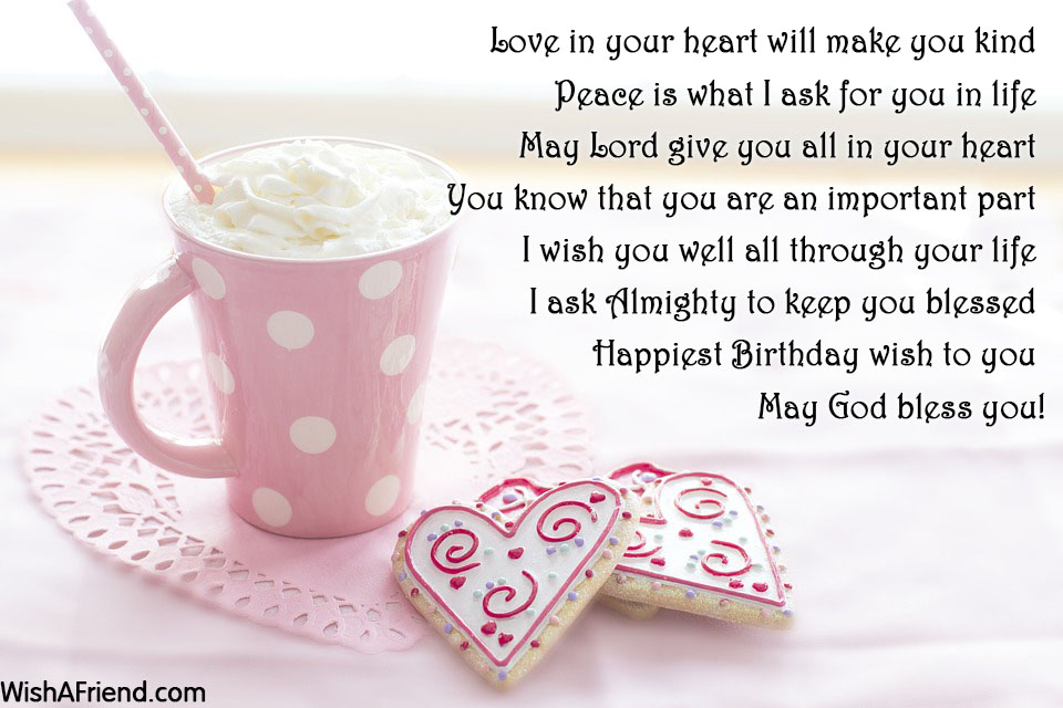 Love In Your Heart Will Make Christian Birthday Greetings
