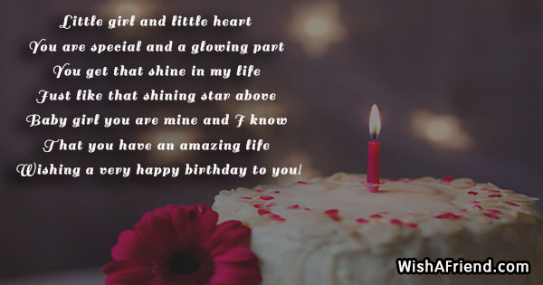 Little Girl And Little Heart You Birthday Quote For Daughter