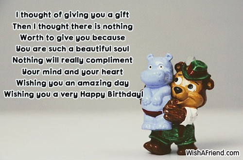 I thought of giving you a, Cute Birthday Quote