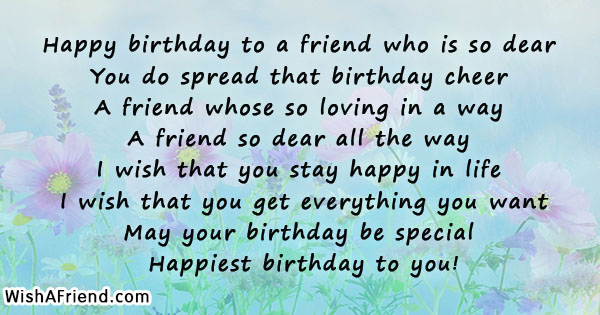 Amazing Happy Birthday To A Friend Who Friends Birthday Quote Personalised Birthday Cards Paralily Jamesorg
