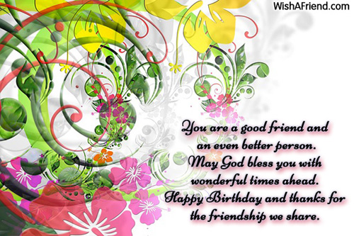 244 Friends Birthday Wishes You Are A Good