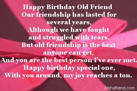 Happy Birthday To Your Best Friend Poem