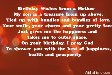 Birthday Wishes From A Mother