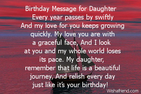 2465 Daughter Birthday Poems