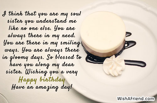 25197 Sister Birthday Messages