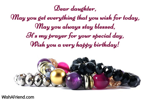 2522 Daughter Birthday Messages