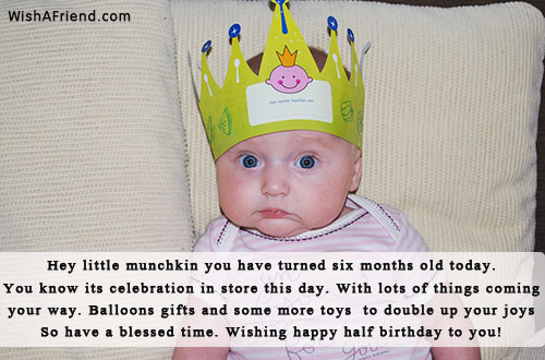 25348 Six Months Birthday Wishes