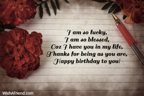I Am So Lucky I Husband Birthday Message