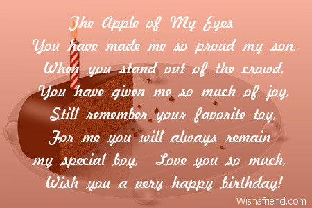 2625 Son Birthday Poems