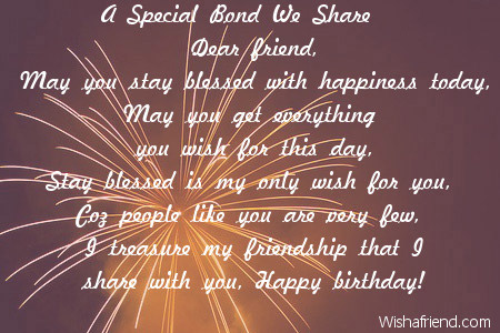 A Special Bond We Share Dear Friend