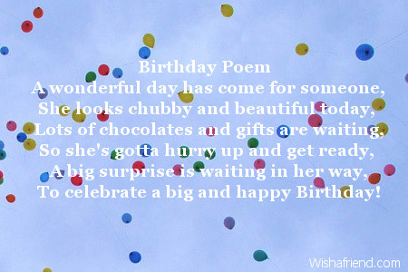 2726 Sister Birthday Poems