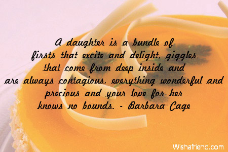 A daughter is a bundle of, Birthday Quote For Daughter