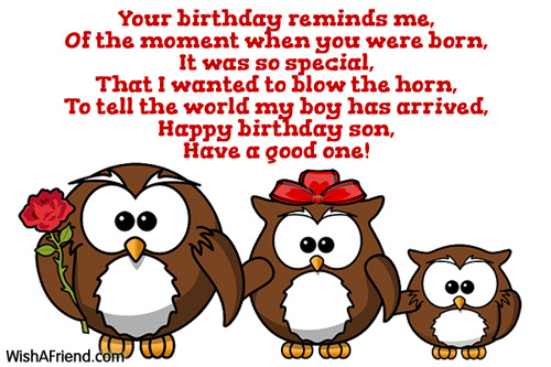 Your Birthday Reminds Me Of Birthday Wish For Son
