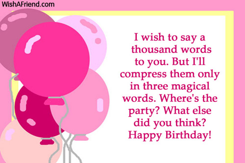 Some words for birthday wishes