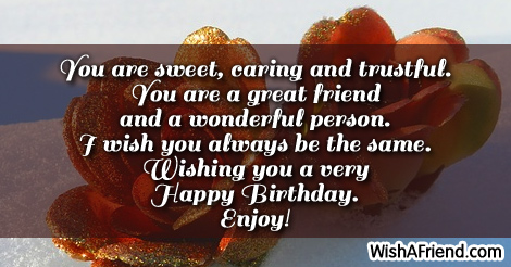 Stupendous You Are Sweet Caring And Trustful 30Th Birthday Sayings Funny Birthday Cards Online Overcheapnameinfo