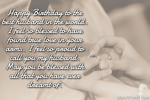384 Husband Birthday Wishes