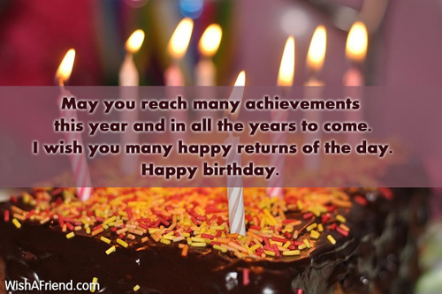 May You Reach Many Achievements This Birthday Wish For Kids