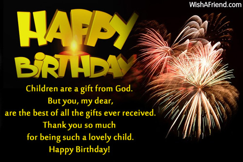 415 Kids Birthday Wishes