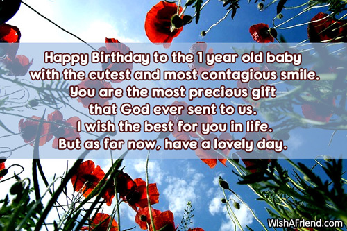 552 1st Birthday Wishes
