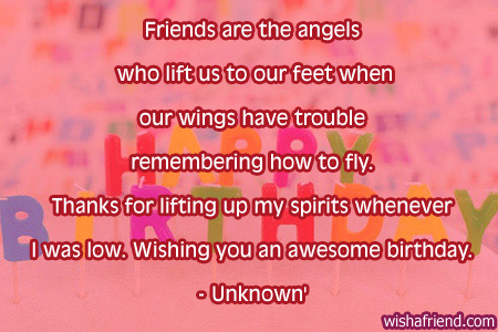 friends are the angels who lift best friend birthday quote