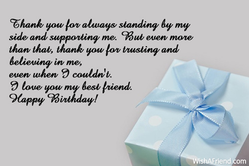 Thank you for always standing by best friend birthday wishes 669 best friend birthday wishes expocarfo