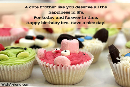 A cute brother like you deserve Birthday Wishes For Brother