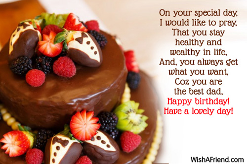 On your special day I would like Birthday Wishes For Dad – Birthday Greeting Dad