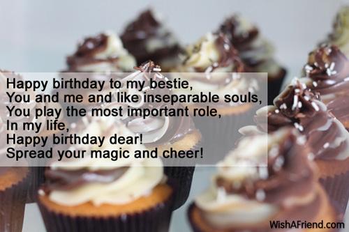 Happy Birthday To My Bestie You And Best Friend Birthday Wish