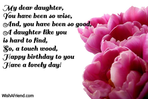 9544 Daughter Birthday Wishes
