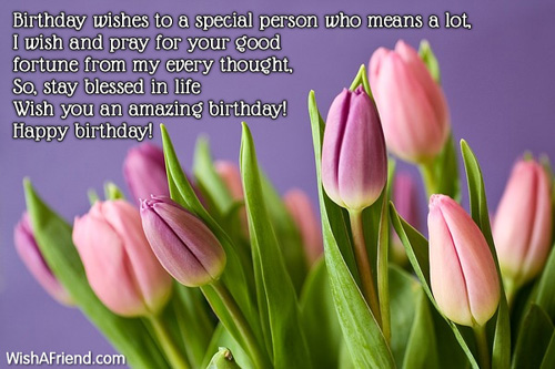 Birthday Wishes To A Special Person Happy Greetings