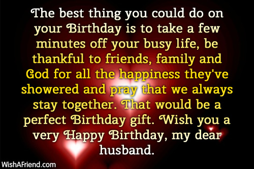 980 Husband Birthday Wishes